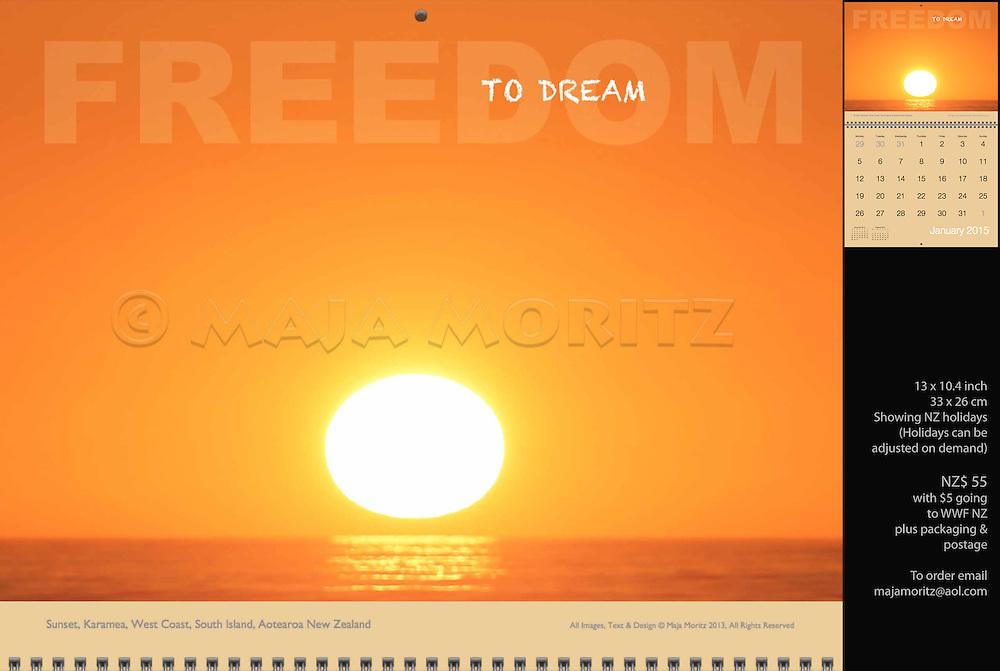 Freedom to dream, Sunset, Karamea, West Coast, South Island, Aotearoa, New Zealand