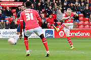 Walsall midfielder Sam Mantom during the Sky Bet League 1 match between Walsall and Southend United at the Banks's Stadium, Walsall, England on 16 April 2016. Photo by Chris Wynne.