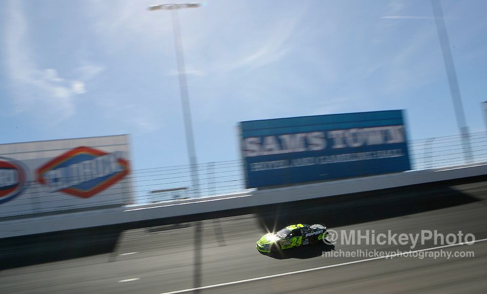 Jeff Gordon seen on the track during the UAW Daimler Chrysler 400 at the Las Vegas Motor Speedway on March 11, 2007.