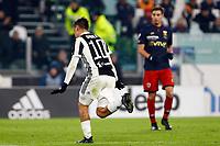 20.12.2017 - Torino - Tim Cup - Coppa Italia   -  Juventus-Genoa nella  foto: Paulo Dybala esulta dopo  il gol dell '1 a 0