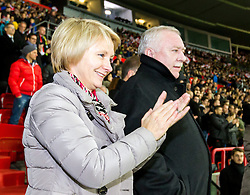 18.11.2014, Ernst Happel Stadion, Wien, AUT, Freundschaftsspiel, Oesterreich vs Brasilien, im Bild Barbara Hoernlein und Landeshauptmann von Wien Michael Haeupl (SPOe)// during the friendly match between Austria and Brasil at the Ernst Happel Stadion, Vienna, Austria on 2014/11/18. EXPA Pictures © 2014, PhotoCredit: EXPA/ Sebastian Pucher