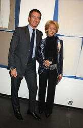 The DUCHESS OF MARLBOROUGH and TIM JEFFERIES at a private view of paintings by Rosita Marlborough (The Duchess of Marlborough) held at Hamiltons gallery, Carlos Place, London W1 on 9th November 2005.<br /> <br /> NON EXCLUSIVE - WORLD RIGHTS