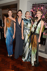 (2L) MARIA GRACHVOGEL and models at a dinner to celebrate 20 years of Maria Grachvogel's fashion label held at Salmontini, 1 Pont Street, London on 22nd October 2014.