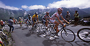 Mickael Rasmussen, Ivan Basso and Lance Armstrong ascend the Col d'Aubisque on Tuesday 19th July 2005.