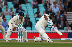 September 11, 2018 - London, England, United Kingdom - L-R Rishabh Pant of India hit first century .during International Specsavers Test Series 5th Test match Day Five  between England and India at Kia Oval  Ground, London, England on 11 Sept 2018. (Credit Image: © Action Foto Sport/NurPhoto/ZUMA Press)