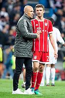 Bayern Munich Arjen Robben and Thomas Muller during Semi Finals UEFA Champions League match between Real Madrid and Bayern Munich at Santiago Bernabeu Stadium in Madrid, Spain. May 01, 2018. (ALTERPHOTOS/Borja B.Hojas)