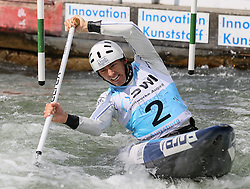 28.02.2013, Eiskanal, Augsburg, GER, ICF Kanuslalom Weltcup, 2. Rennen, im Bild David FLORENCE (GBR), C1, Canadier Einer, // during 2nd race of ICF Canoe Slalom World Cup at the ice track, Augsburg, Germany on 2013/06/28. EXPA Pictures © 2013, PhotoCredit: EXPA/ Eibner/ Klaus Rainer Krieger<br /> <br /> ***** ATTENTION - OUT OF GER *****