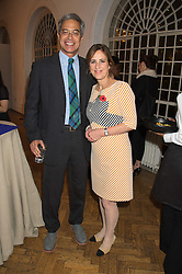 DR MITCH BESSER founder of mothers2mothers KIRSTY WARK at a gala dinner to celebrate 15 Years of mothers2mothers hosted by Annie Lennox held at One Marylebone, 1 Marylebone Road, London NW1on 3rd November 2015.