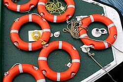 UK ENGLAND BATH 1OCT05 - Life rescue rings on board a river barge moored on the River Avon in Bath...jre/Photo by Jiri Rezac..© Jiri Rezac 2005.Contact: +44 (0) 7050 110 417.Mobile: +44 (0) 7801 337 683.Office: +44 (0) 20 8968 9635..Email: jiri@jirirezac.com.Web: www.jirirezac.com..© All images Jiri Rezac 2005 - All rights reserved.