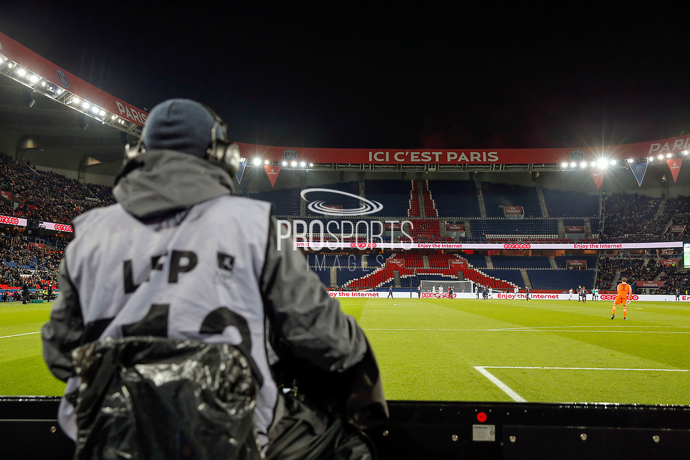 Auteil stands without ULTRAS supporters during the French Championship Ligue 1 football match between Paris Saint-Germain and ESTAC Troyes on November 29, 2017 at Parc des Princes stadium in Paris, France - Photo Stephane Allaman / ProSportsImages / DPPI