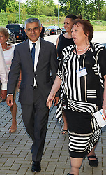 © Licensed to London News Pictures. 8/05/2016. London, UK. London's newly elected mayor, Sadiq Khan arrives at 'Yom Hashoah' the UK Jewish communities national holocaust remembrance commemoration at Barnet Copthall Stadium, north west London.<br /> Photo credit: Simon Jacobs/LNP