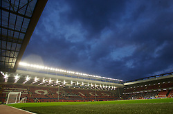 Liverpool, England - Wednesday, October 3, 2007: A general view of Anfield before Liverpool take on Olympique de Marseille during the UEFA Champions League Group A match at Anfield. (Photo by David Rawcliffe/Propaganda)
