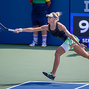 2019 US Open Tennis Tournament- Day Fourteen.  Alexandra Yepifanova of the United States in action against  Maria Camila Osorio Serrano of Colombia in the Junior Girls Singles Final on court seventeen during the 2019 US Open Tennis Tournament at the USTA Billie Jean King National Tennis Center on September 8th, 2019 in Flushing, Queens, New York City.  (Photo by Tim Clayton/Corbis via Getty Images)