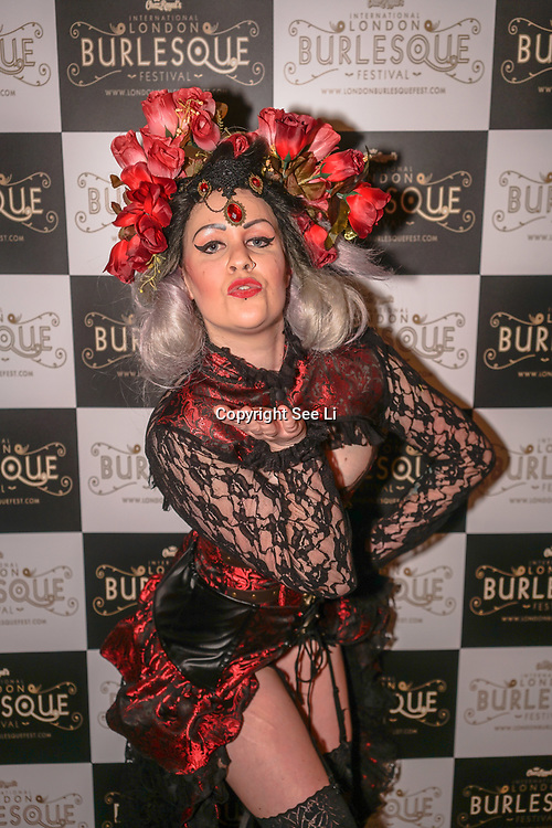 Prefomer Cherry Boomb,Hastings New Zealand at the London Burlesque Festival the VIP Opening Gala at Conway Hall on 18th May 2017, UK. by See Li