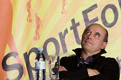 Stane Ostrelic, RK Gorenje na okrogli mizi o krizi slovenskega rokometa danes, 26. oktober 2010, kongresna dvorana Mercurius, BTC City, Ljubljana, Slovenija. (Photo by Vid Ponikvar / Sportida)