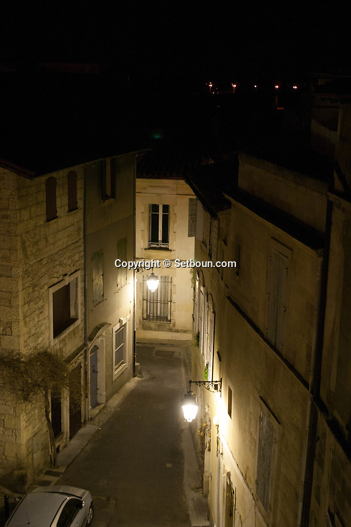 France. Bouches du Rhone.Arles, the old city rooftops view from a terrace,   France    /  Arles les toits de la vielle ville vus d une terrace