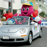 Inkie in the Fourth of July parade on main Street on July 4, 2007.
