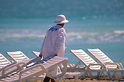 Beach Lounges and Attendant