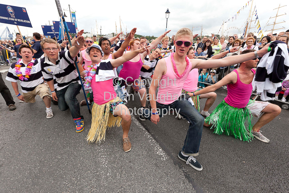 1/7/2011.no charge for repro.Crew Members from the Tall Ships pictured at the Crew Parade at the Tall Ships Races in Waterford yesterday..Picture Dylan Vaughan