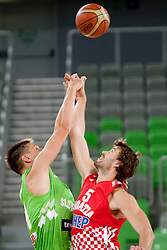 Luksa Andric of Croatia during friendly basketball match between National teams of Slovenia and Croatia of Adecco Ex-Yu Cup 2012 as part of exhibition games 2012, on August 4, 2012, in Arena Stozice, Ljubljana, Slovenia. (Photo by Matic Klansek Velej / Sportida)