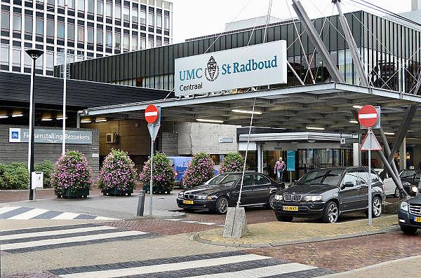 Nederland, Nijmegen, 13-9-2013Ingang gebouw umc radboud, umcn, academisch, universitair ziekenhuis. Foto: Flip Franssen