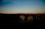 A cementery of abandoned mining towns in Atacama desert, Chile. June 2010. Photo/Tomas Munita