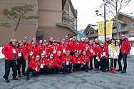 Special Olympics National Polish Team while 2013 Special Olympics World Winter Games PyeongChang at Alpensia Resort on February 5, 2013...South Korea, PyeongChang, February 5, 2013..Picture also available in RAW (NEF) or TIFF format on special request...For editorial use only. Any commercial or promotional use requires permission...Photo by © Adam Nurkiewicz / Mediasport