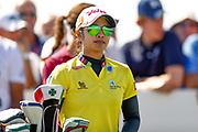 Pornanong Phatlum waits patiently during the Final day of the Ricoh Women's British Open golf tournament at Royal Lytham and St Annes Golf Club, Lytham Saint Annes, United Kingdom on 5 August 2018. Picture by Simon Davies.