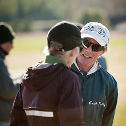 New England High School XC Championship, Bill Reilly, Fryeburg, talks to Joan Sameulson