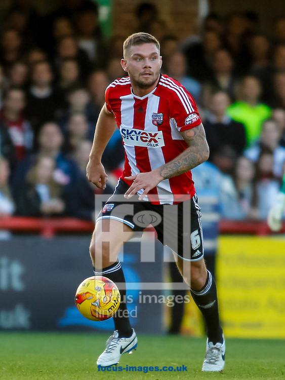 Harlee Dean of Brentford during the Sky Bet Championship match between Brentford and Derby County at Griffin Park, London<br /> Picture by Mark D Fuller/Focus Images Ltd +44 7774 216216<br /> 01/11/2014