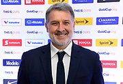 Mexico coach Gerardo Martino aka Tata Martino (MEX)  poses during CONCACAF Gold Cup groups unveiling news conference, Wednesday, April 10, 2019, in Los Angeles.