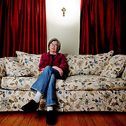 Author Barbara Ehrenreich, photographed at her home in Alexandria, Virginia on Monday, Feb. 22, 2010.