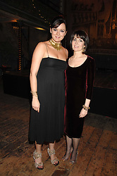 Left to right, actress RACHAEL STIRLING and SHARON STIRLING at a reception to Discover Wilton's Music Hall held at the hall in Graces Alley, London E1 on 5th December 2007.<br />