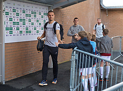 BURNLEY, ENGLAND - Saturday, August 31, 2019: Liverpool's captain Jordan Henderson arrives before the FA Premier League match between Burnley FC and Liverpool FC at Turf Moor. (Pic by David Rawcliffe/Propaganda)