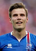 Uefa - World Cup Fifa Russia 2018 Qualifier / <br /> Iceland National Team - Preview Set - <br /> Theodor Elmar Bjarnason