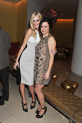 Left to right, TAYLOR BAGLEY and EVE MYLES at an after show party following the opening night of All New People held at the St.Martin's Lane Hotel, London on 28th February 2012.