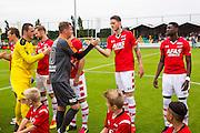 UITGEEST - 09-07-2016, AZ - FC Volendam, Complex FC Uitgeest, Volendam speler Jack Tuijp, AZ speler Wout Weghorst