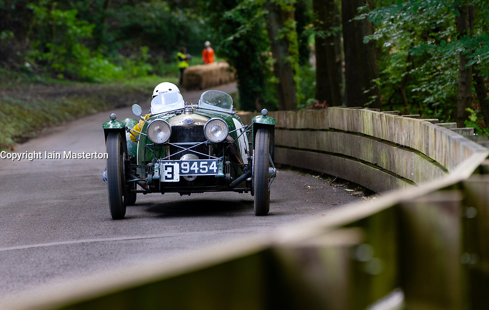 Boness Revival hillclimb motorsport event in Boness, Scotland, UK. The 2019 Bo'ness Revival Classic and Hillclimb, Scotland's first purpose-built motorsport venue, it marked 60 years since double Formula 1 World Champion Jim Clark competed here.  It took place Saturday 31 August and Sunday 1 September 2019. 3 Derek Sweeney Riley brook lands