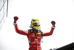 September 23, 2018 - Spielberg, Austria - MICK SCHUMACHER of Germany and Prema Theodore Racing celebrates after winning the 2018 FIA Formula 3 European Championship race 2 at the Red Bull Ring in Spielberg, Austria. (Credit Image: © James Gasperotti/ZUMA Wire)