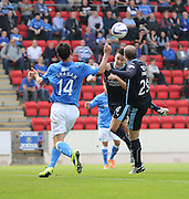 Thomas Konrad heads home Dundee's winner-  St Johnstone v Dundee, SPFL Premiership at McDiarmid Park<br /> <br />  - &copy; David Young - www.davidyoungphoto.co.uk - email: davidyoungphoto@gmail.com