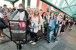 Student que for the Meadowhall Student Lock In.29th September2011. Image © Paul David Drabble