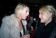 SOPHIA HESKETH; OLYMPIA SCARRY,  Prada Congo Art Party hosted by Miuccia Pada and Larry Gagosian. The Double Club,  Torrens St. London EC1. The Double Club is A Carsten Holler project by Fondazione Prada. 10 February 2009.