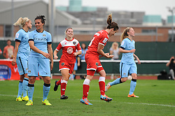 Bristol Academy Womens' Corinne Yorston celebrates her goal - Photo mandatory by-line: Dougie Allward/JMP - Mobile: 07966 386802 - 28/09/2014 - SPORT - Women's Football - Bristol - SGS Wise Campus - Bristol Academy Women's v Manchester City Women's - Women's Super League