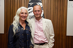 19/08/2015<br /> Pictured at the opening night of 'The Bog of Cats' by Marina Carr at The Abbey Theatre were Olwen Fouéré and David Heap.<br /> PIC: LENSMEN