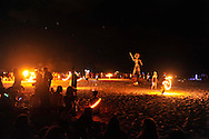 "The Fire Dance, the Burning of the Man at ""Mid Burn"", the Israeli ""Burning Man Festival"" held at ""Habonim"" beach north of Israel October 4-6, 2012."