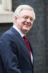 Downing Street, London, November 15th 2016.  Secretary of State for Exiting the European Union David Davis leaves Downing Street following the weekly cabinet meeting.