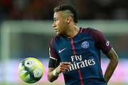 Paris Saint-Germain's Brazilian forward Neymar Jr runs with the ball during the French championship L1 football match between Paris Saint-Germain (PSG) and Toulouse, on August 20, 2017, at the Parc des Princes, in Paris, France - Photo Benjamin Cremel / ProSportsImages / DPPI
