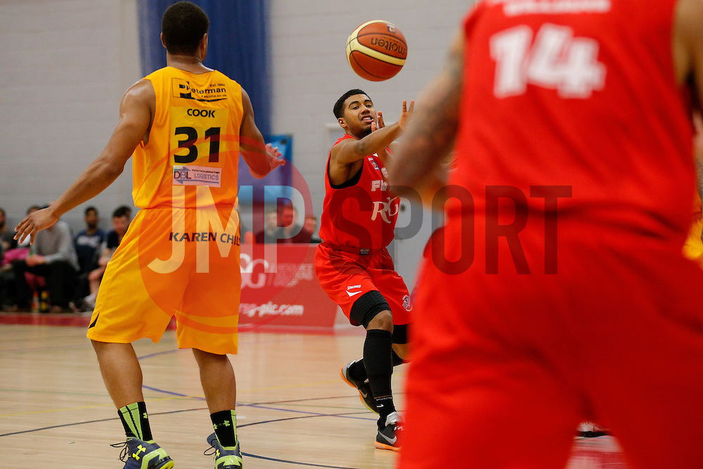 Dwayne Lautier-Ogunleye of Bristol Flyers in action - Photo mandatory by-line: Rogan Thomson/JMP - 07966 386802 - 07/03/2015 - SPORT - BASKETBALL - Bristol, England - SGS Wise Arena - Bristol Flyers v Sheffield Sharks - BBL Championship.