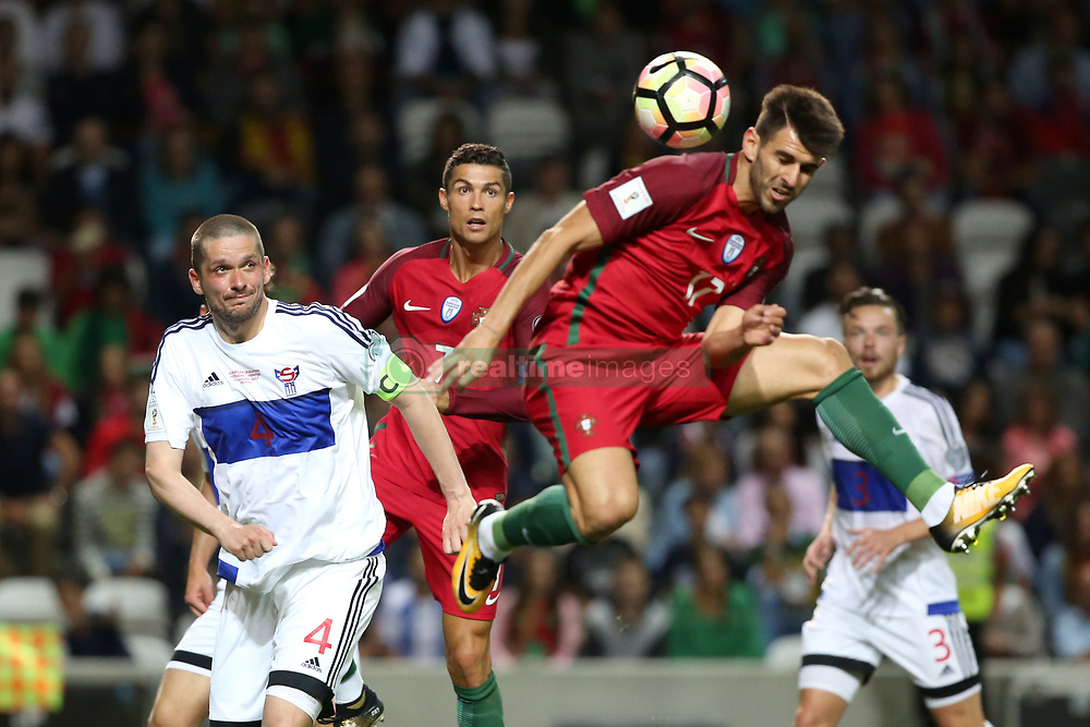 August 31, 2017 - Porto, Portugal - Portugal's forward Nelson Oliveira heads the ball during the 2018 FIFA World Cup qualifying football match between Portugal and Faroe Islands at the Bessa XXI stadium in Porto, Portugal on August 31, 2017. (Credit Image: © Pedro Fiuza/NurPhoto via ZUMA Press)