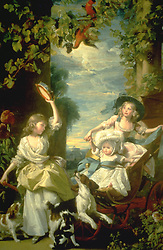 Honoré Fragonard was a French painter known for his scenes of people enjoying nature and the great outdoors.